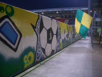Street Art op de North-Stand
