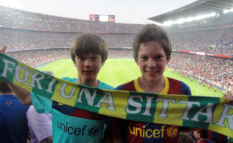 Pim en Cas Dols bij Barcelona