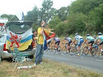 Fan in Tour de France